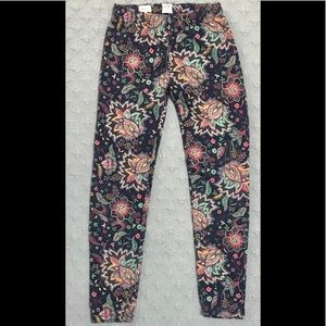 Gap leggings Navy Floral size Small